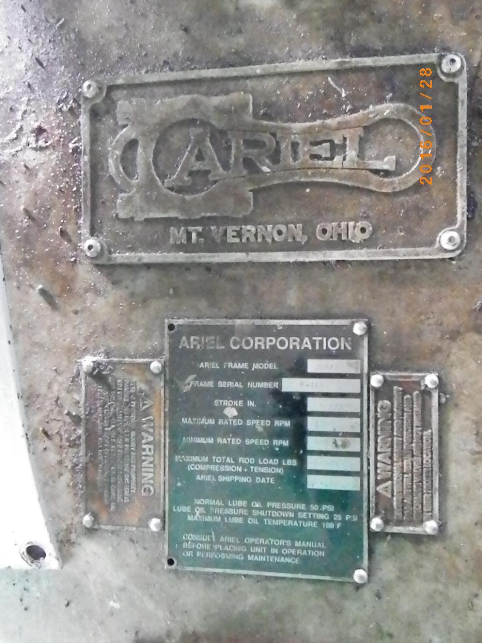 ARMOUREE - 1990 COMPRESSOR UNIT 3276 Ariel JGK/2 Recip 1440 PSI