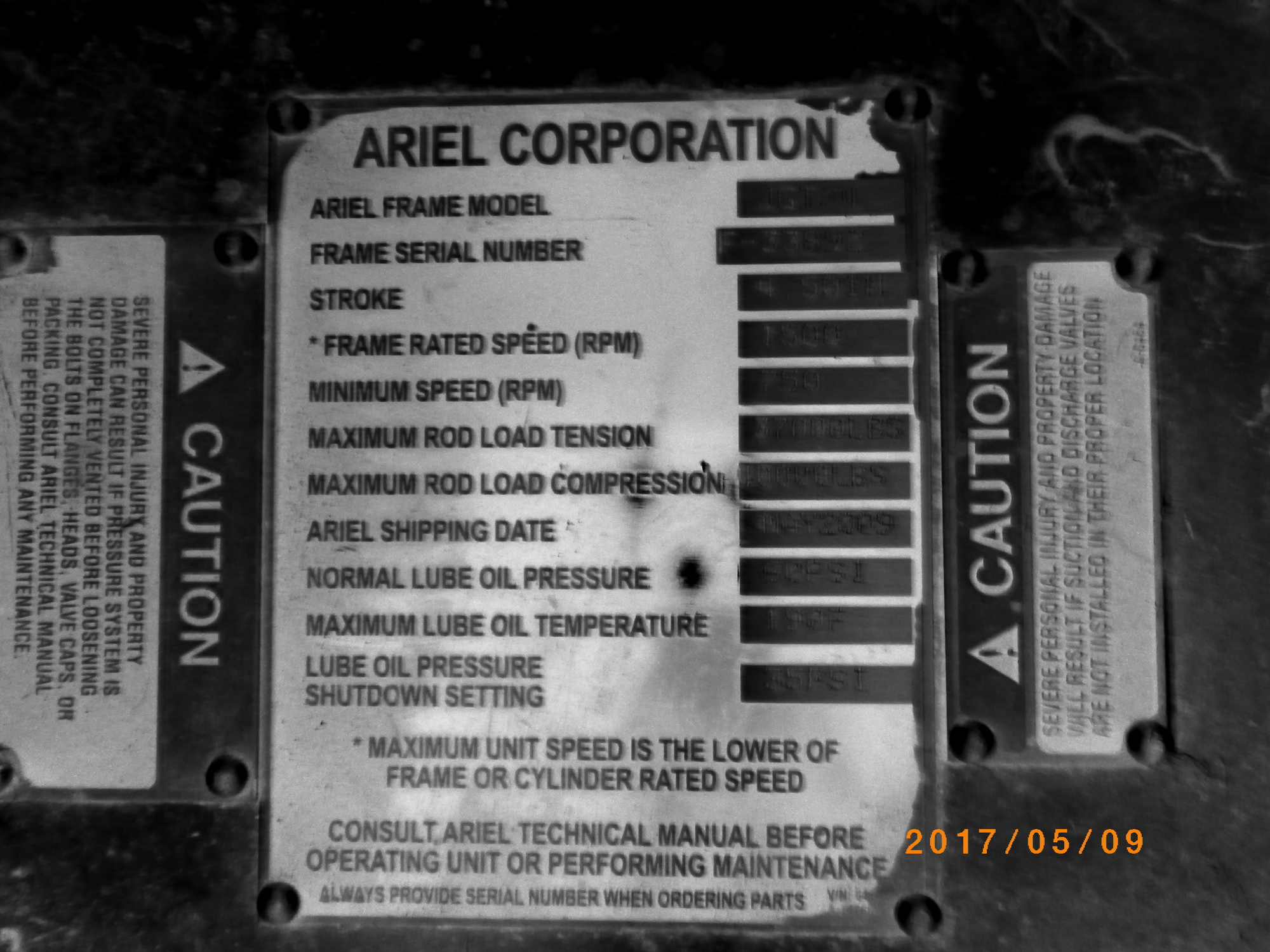 ARMOUREE - 2009 COMPRESSOR UNIT 2700 Ariel JGT/4 Recip 0 PSI